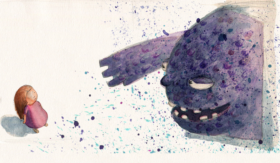 Monster poem by Maureen Lynas. Image by Heather Kilgour.